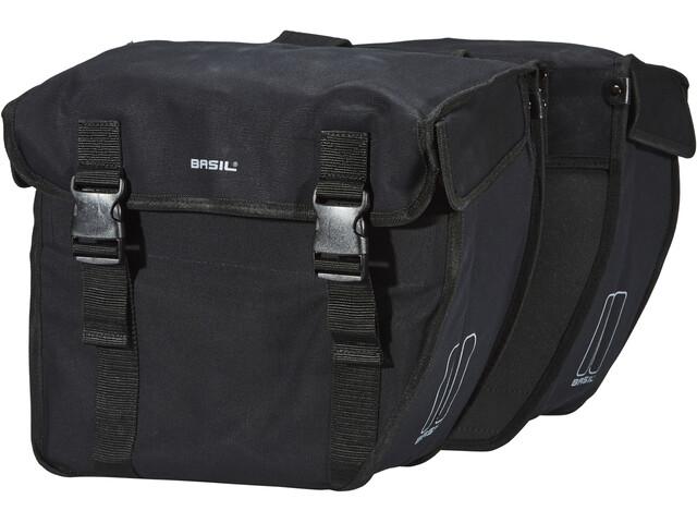 Basil Kavan Rounded Double Pannier Bag, black